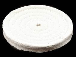 "Formax 6"" Diameter 1/2"" Thick Spiral Sewn Cotton Buffing and Polishing Wheel for 5/8"" or 1/2"" Arb..."