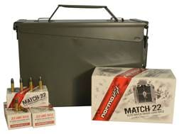 Norma USA Match-22 Ammunition 22 Long Rifle 40 Grain Lead Round Nose Ammo Can of 1500 (3 Boxes of...