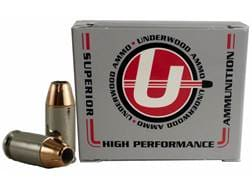 Underwood Ammunition 45 Super 185 Grain Jacketed Hollow Point Box of 20