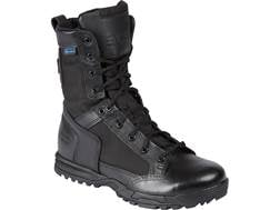 "5.11 Skyweight 8"" Side Zip Waterproof Tactical Boots Leather Black Men's"