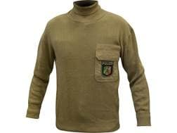 Military Surplus German Police Sweater Turtleneck Grade 2 Large Khaki