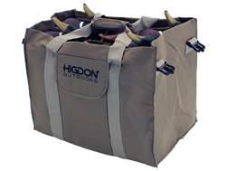 Higdon 6-Slot Duck Decoy Bag Polyester Brown