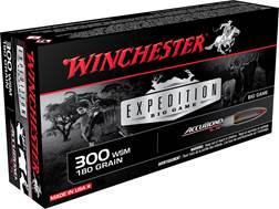 Winchester Expedition Big Game Ammunition 300 Winchester Short Magnum (WSM) 180 Grain Nosler Accu...