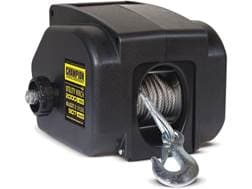 Champion 2000 lb 12V Utility Winch Kit with 30' Galvanized Cable