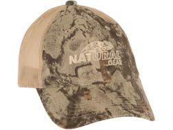 Natural Gear Mesh Back Cap Polyester Natural Gear Natural Camo