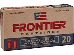 Frontier Cartridge Military Grade Ammunition 5.56x45mm NATO 55 Grain Hornady Hollow Point Match