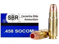 SBR Ammunition 458 SOCOM 250 Grain Barnes TSX Hollow Point Lead-Free Box of 20