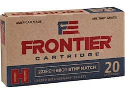 Frontier Cartridge Military Grade Ammunition 223 Remington 68 Grain Hornady Hollow Point Boat Tai...