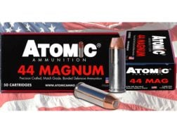 Atomic Ammunition 44 Remington Magnum 240 Grain Bonded Match Hollow Point Box of 50