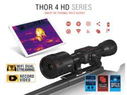 ATN ThOR 4 HD Thermal Rifle Scope 2.5-25x, 640x480 with HD Video Recording, Wi-Fi, GPS, Smooth Zo...