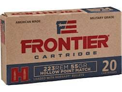 Frontier Cartridge Military Grade Ammunition 223 Remington 55 Grain Hornady Hollow Point Match