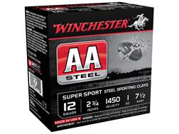 """Winchester AA Super Sport Sporting Clays Ammunition 12 Gauge 2-3/4"""" 1 oz #7-1/2 Non-Toxic Steel S..."""