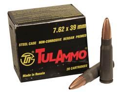 TulAmmo Ammunition 7.62x39mm 122 Grain Jacketed Hollow Point (Bi-Metal) Steel Case Berdan Primed ...