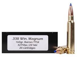 DoubleTap Ammunition 338 Winchester Magnum 160 Grain Barnes TTSX Polymer Tipped Spitzer Lead-Free...