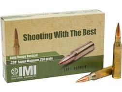 IMI Ammunition 338 Lapua Magnum 250 Grain Hollow Point Boat Tail