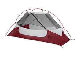 """MSR Hubba NX 1 Man Modified Dome Tent 85"""" x 30"""" x 36"""" Polyester Red and White"""