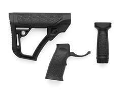 Daniel Defense Collapsible Stock, Pistol Grip, Vertical Foregrip Combo Kit Mil-Spec Diameter AR-1...