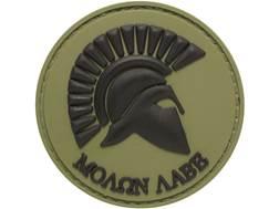 "5ive Star Gear Molon Labe PVC Morale Patch Green 2"" x 2"""