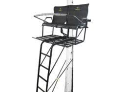 Hawk Sasquatch 18' Double Ladder Treestand Steel Black