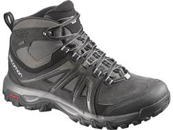 "Salomon Evasion Mid GTX 5"" Waterproof GORE-TEX Hiking Boots Leather/Nylon Black Men's 7"