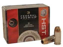 Federal Premium Personal Defense Ammunition 45 ACP 230 Grain HST Jacketed Hollow Point