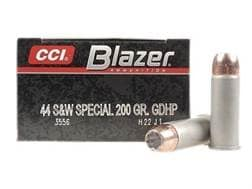 Blazer Ammunition 44 Special 200 Grain Speer Gold Dot Jacketed Hollow Point Box of 50