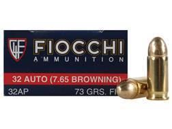 Fiocchi Shooting Dynamics Ammunition 32 ACP 73 Grain Full Metal Jacket Box of 50