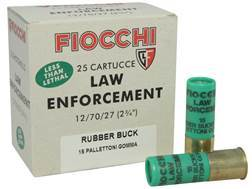 "Fiocchi Exacta Ammunition 12 Gauge 2-3/4"" 00 Rubber Buckshot 15 Pellets Box of 25"