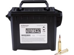Dogtown Ammunition 243 Winchester 70 Grain Tipped Flat Base Ammo Can of 150