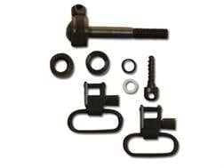 "GrovTec Sling Swivel Studs with 1"" Locking Swivels Set Remington Steel Black"