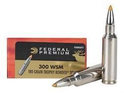 Federal Premium Vital-Shok Ammunition 300 Winchester Short Magnum (WSM) 180 Grain Trophy Bonded T...