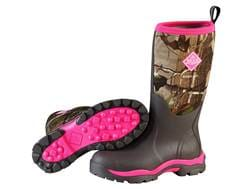 """Muck Woody 13"""" Waterproof Insulated Hunting Boots Rubber/Nylon Realtree APG/Pink Women's"""