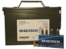 Magtech Sport Ammunition 9mm Luger 115 Grain Full Metal Jacket Ammo Can of 500 (10 Boxes of 50)