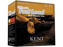 "Kent Cartridge Ultimate Fast Lead Diamond Shot Upland Ammunition 12 Gauge 2-3/4"" 1-1/2 oz #4 Shot..."