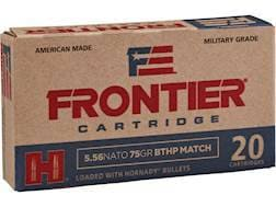 Frontier Cartridge Military Grade Ammunition 5.56x45mm NATO 75 Grain Hornady Hollow Point Boat Ta...