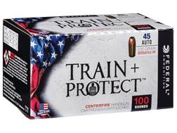 Federal Train + Protect Ammunition 45 ACP 230 Grain Versatile Hollow Point (Value Pack)