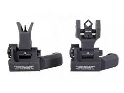 Troy Industries Offset Flip-Up Battle Sight Set M4-Style Front, Dioptic Rear AR-15 Aluminum
