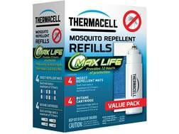 Thermacell Mosquito Repellent Max Life Refill Pack (Butane .42 oz Pack of 4 and Repellent Mats Pa...