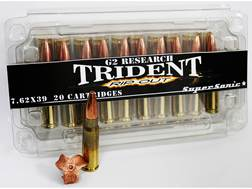 G2 Research RIP-OUT Trident Ammunition 7.62x39mm 124 Grain Expanding Solid Copper Lead-Free Box o...