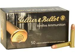 Sellier & Bellot Ammunition 22 Winchester Magnum Rimfire (WMR) 40 Grain Full Metal Jacket Box of 50