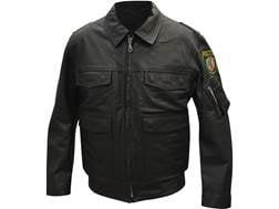 Military Surplus German Police Jacket Leather Black