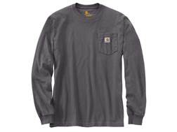 Carhartt Men's Workwear Pocket T-Shirt Long Sleeve Cotton/Polyester Carbon Heather Medium Regular