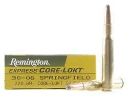 Remington Express Ammunition 30-06 Springfield 220 Grain Core-Lokt Soft Point Box of 20