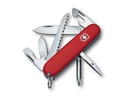 Victorinox Swiss Army Hiker Folding Pocket Knife 13 Function Stainless Steel Blade Polymer Handle...