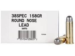 Ultramax Remanufactured Ammunition 38 Special 158 Grain Lead Round Nose Box of 50