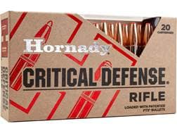 Hornady Critical Defense Ammunition 223 Remington 55 Grain Flex Tip Expanding Box of 20