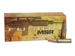 Federal Fusion MSR Ammunition 6.8mm Remington SPC 115 Grain Spitzer Boat Tail Box of 20