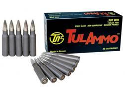 TulAmmo Ammunition 308 Winchester 150 Grain Full Metal Jacket (Bi-Metal) Steel Case Berdan Primed
