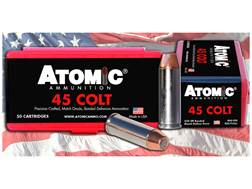 Atomic Ammunition 45 Colt (Long Colt) 250 Grain Bonded Match Hollow Point Box of 50