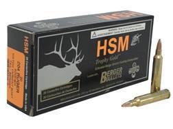 HSM Trophy Gold Ammunition 204 Ruger 40 Grain Berger Varmint Hollow Point Boat Tail Box of 20